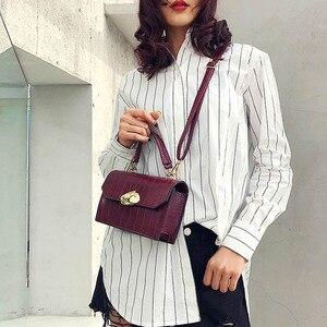 USOUL crocodile grain small bags for women 2021 vintage crossbody bag ladies luxury leather handbag mobile phone purse