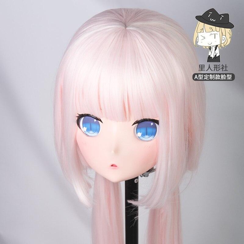 (A1-B) مخصص الإناث/فتاة الراتنج تأثيري اليابانية دور اللعب أنيمي Kigurumi قناع كروسدرسر دمية