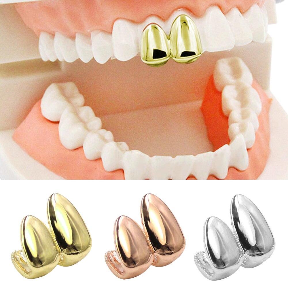 Besegad hiphop dentes topo falso canino tampões de dentes grill tampa de dentadura para festa de halloween accessoies dia das bruxas hiphop estilo dentes