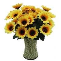 Bouquet de fleurs artificielles en soie de haute qualite  fausses fleurs decoratives pour balcon  maison  mariage  jardin  boutique