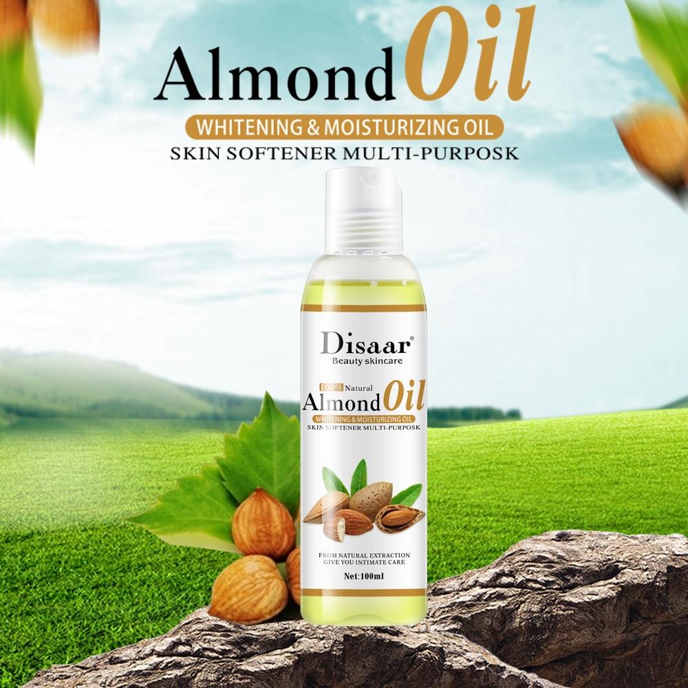 Best 100% Natural Almond Oil Body Massage Face Care Essential Oil Whitening Moisturizing Nourishing