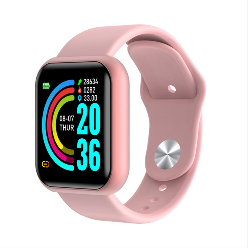2020 Y68 Bluetooth inteligente Digital Relojes hombres mujeres niños pulsera inteligente reloj HR/BP tasa impermeable reloj inteligente rastreador de Fitness