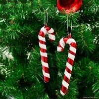 6 stkspak voor nieuwjaar xmas party kids gift xmas opknoping candy cane kerstboom ornamenten crutch hanger decor