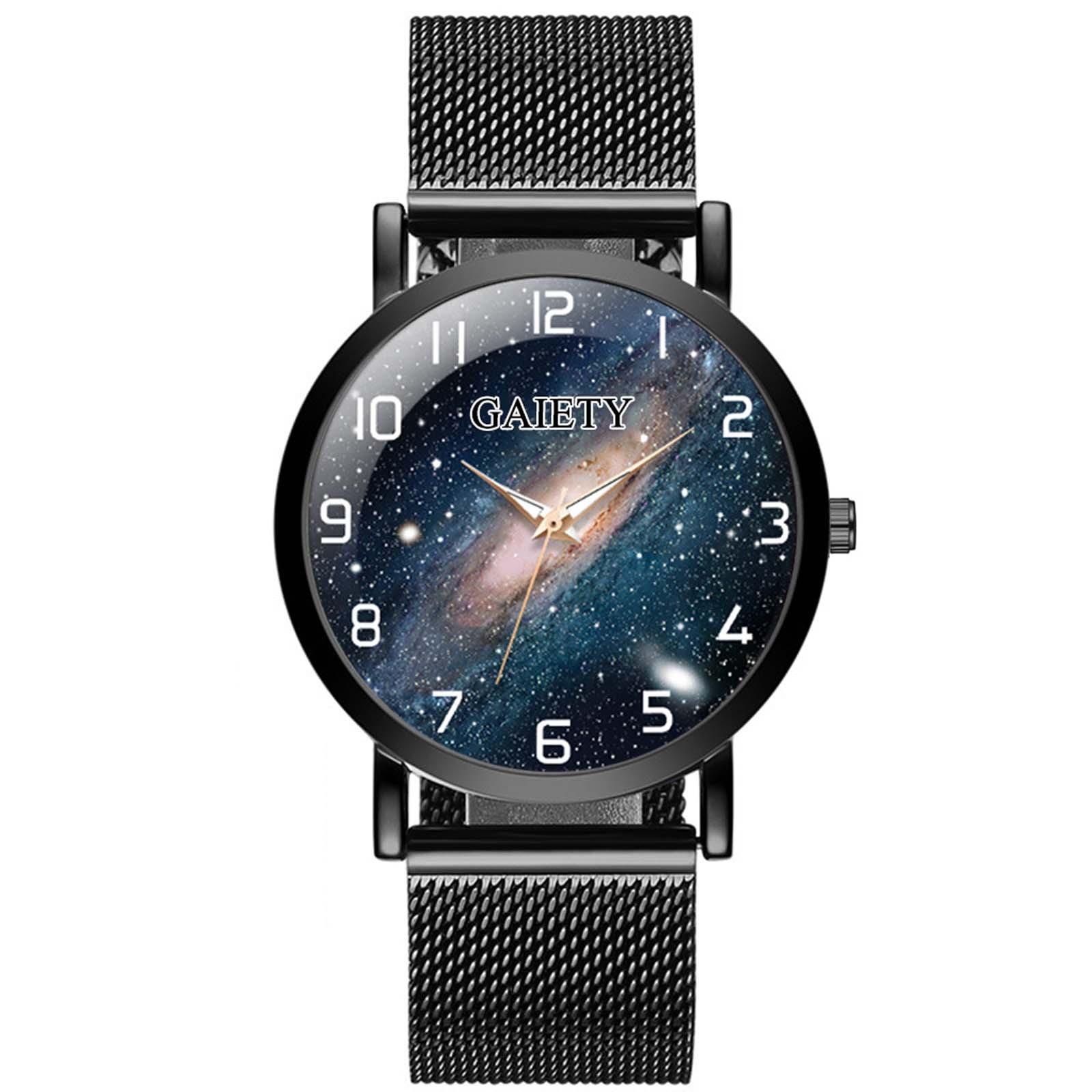 Luxury Distinguished Waterproof Lady Stainless Steel Mesh Belt Watch Analog Universe Quartz Watch часы женские наручные умные часы huawei watch steel mesh mesh серебряная сталь 42mm