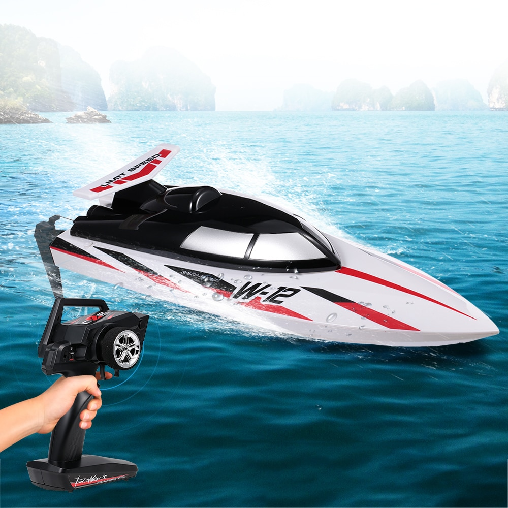 WLtoys WL912-A Waterproof RC Boat 2.4G 35KM/H High Speed RC Boat Capsize Protection Remote Control Racing RC Boat for Kids enlarge