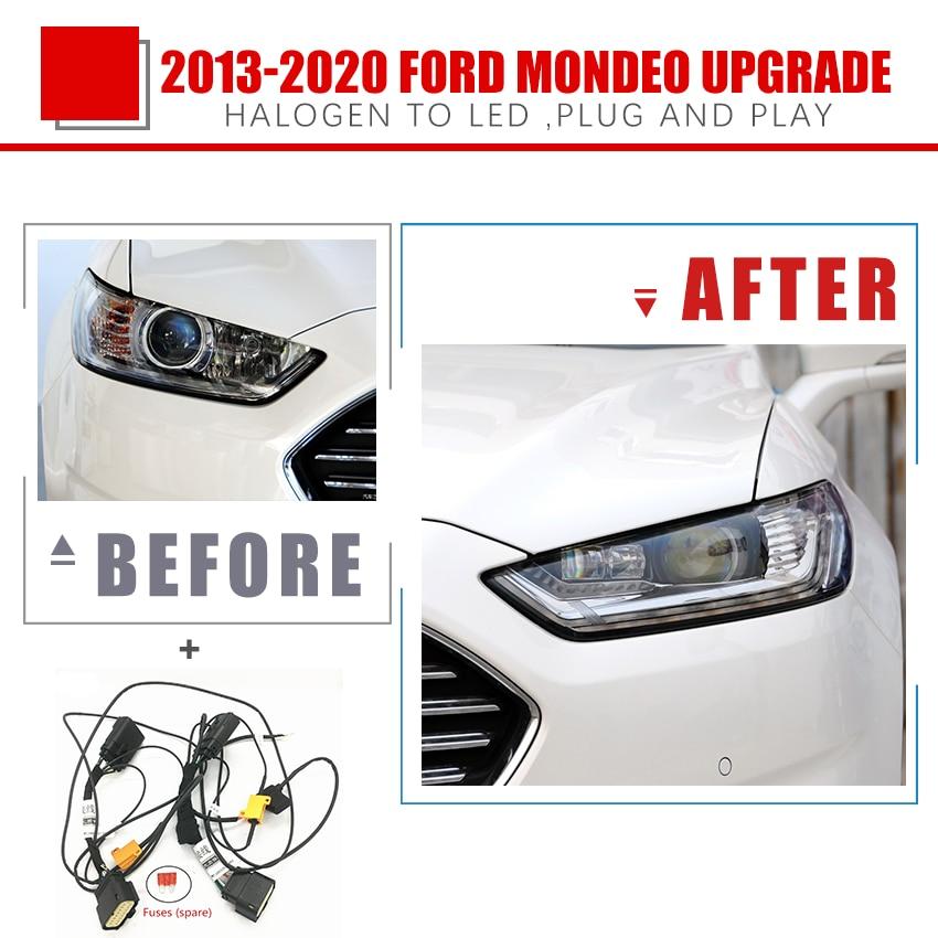 Модификация автомобильных фар YCK, модификация переводного провода, модификация налобного фонаря, модификация для Ford 13-20 Mondeo, галогенный на с...