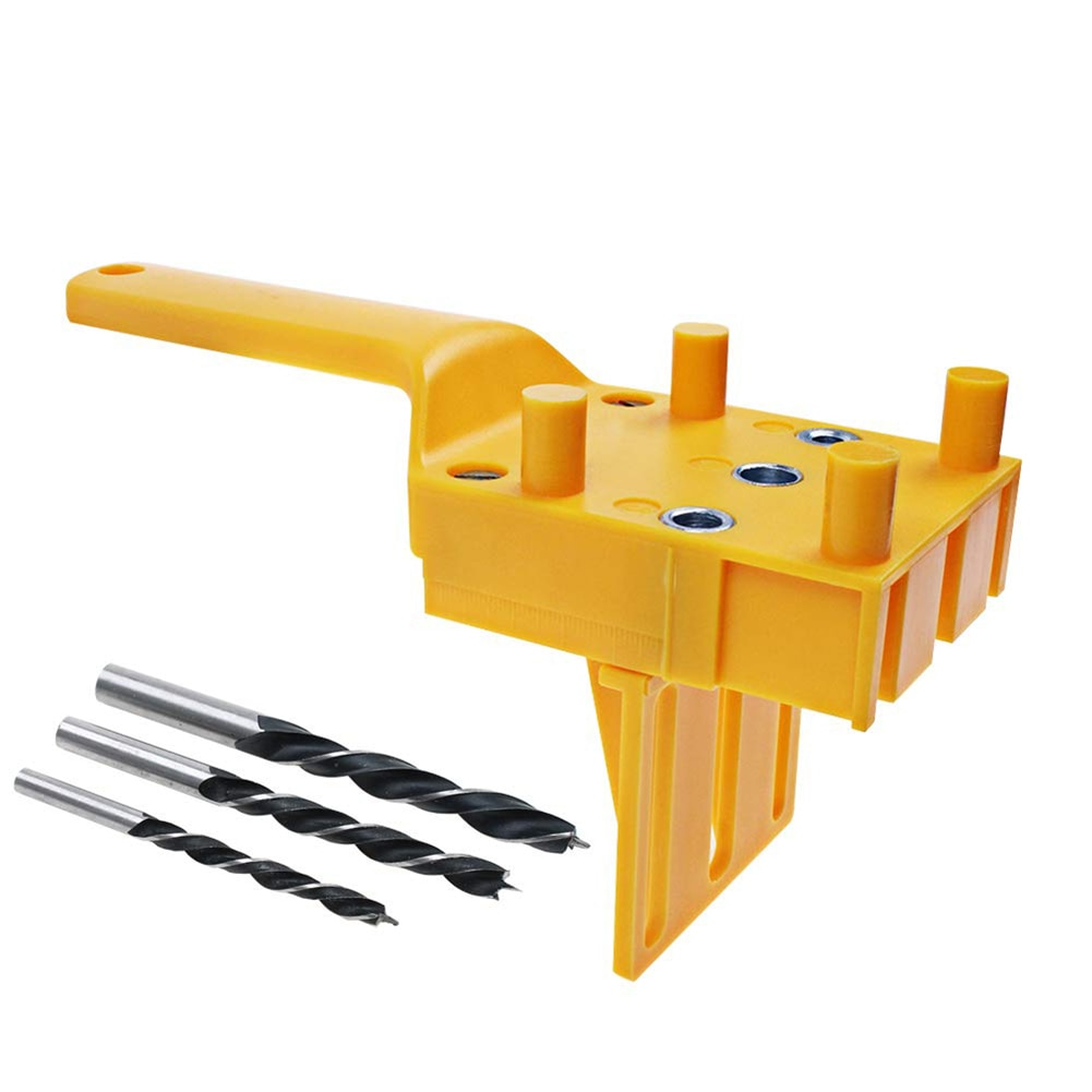 Woodworking Locator Drilling Doweling Hole Saw Tool Handheld Jigs For Wood Board Connection And Revolving Hole 4PCS Huepar