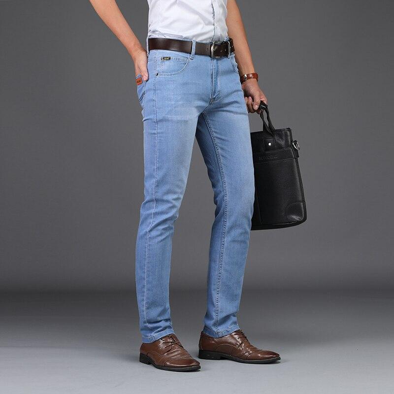 2021 летние деловые джинсы стиль Utr тонкие легкие мужские джинсы модные мужские повседневные джинсы мужские узкие джинсы оптовая продажа