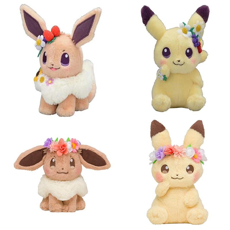 TAKARA TOMY Pokemon Go Аниме Пикачу Эви пасхальные Плюшевые игрушки Eevee Куклы kawaii Плюшевые игрушки рождественские подарки для детей