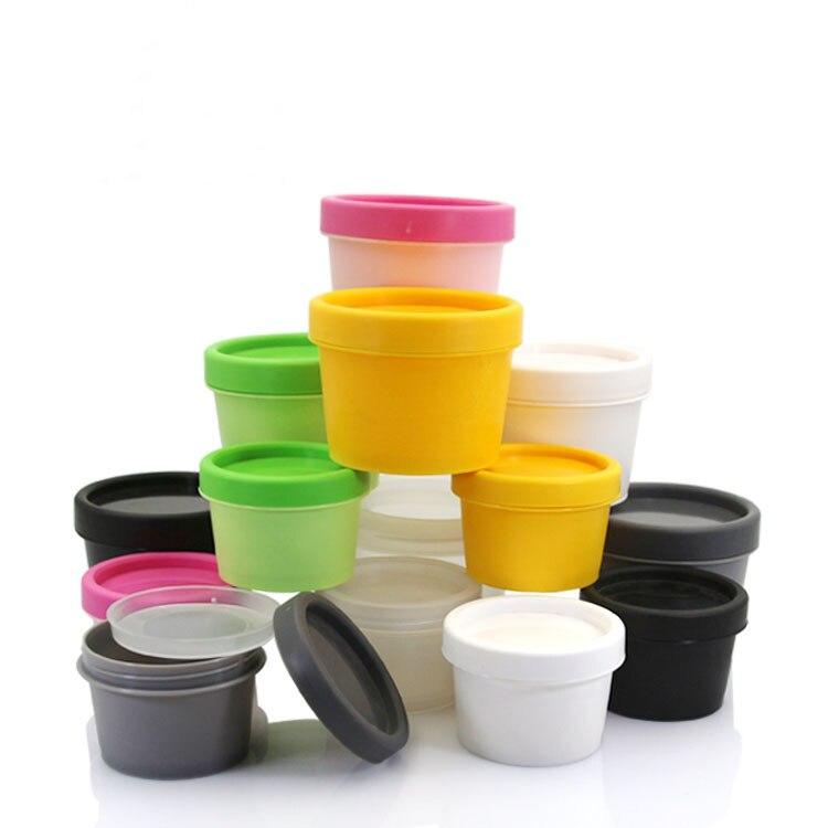 Jarra de plástico PP de 50g 5 colores/Olla/botella para crema de máscara/exfoliante corporal/esencia/humectante/Embalaje cosmético de gel cuidado de la piel