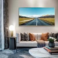 Peinture a lhuile de paysage  toile dart de plateau de montagne  autoroute  salon  couloir  bureau  decoration murale de la maison