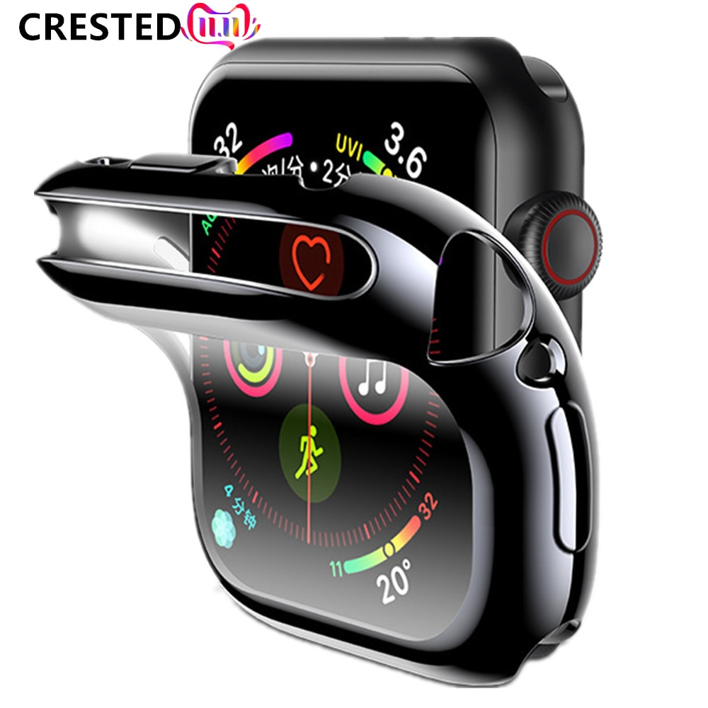 Cover Case For Apple Watch band 44mm/40mm for apple watch 6 5 4 3 42mm/38mm iwatch screen protector