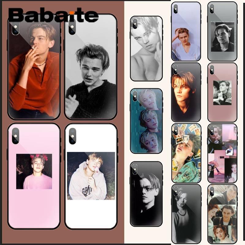 Babaite Leonardo DiCaprio DIY Druck glas Telefon Fall Für iPhone XR XS MAX X 7 8 6S Plus 11 11Pro 11Pro max Coque Shell