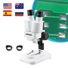 AOMEKIE 20X Binocular Stereo Microscope Wide Field of Vision for PCB Solder Mobile Repair Tool Slide