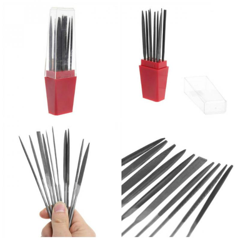 Precision Needle Files Set Carving Files 140mm 10pcs Jewelry Tools sata 03810 for needle set 10пр different types and sectional 140mm straight diamond
