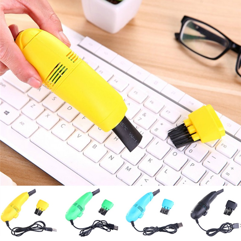 USB Vacuum Cleaner Mini Computer USB Keyboard Brush Computer Vacuum Cleaning Kit Tool Remove Dust Br