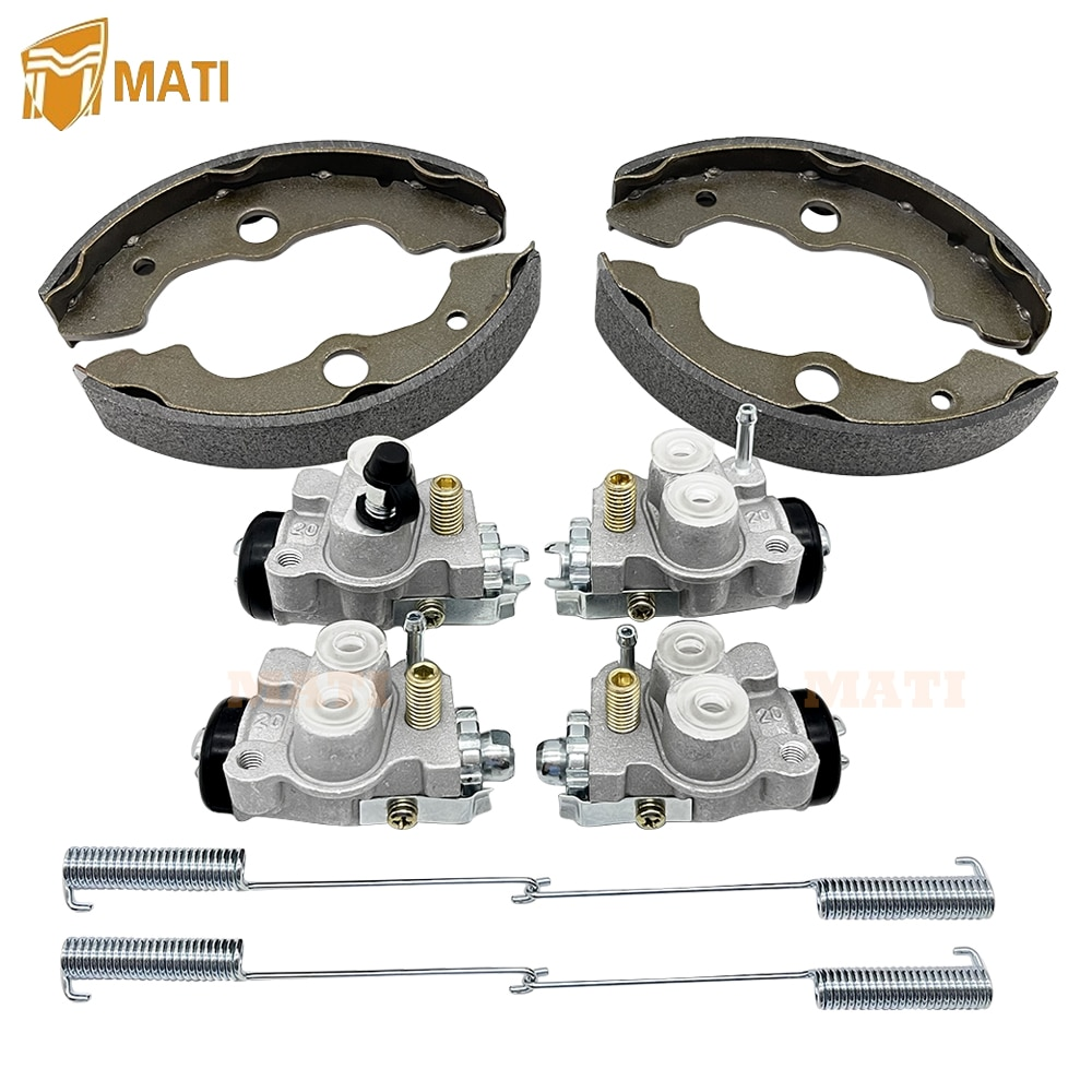 Left Right Front Brake Wheel Cylinders with Brake Shoes all 4 Set for Honda TRX400 TRX400FW FourTrax Foreman 400 4x4 1995-1998 enlarge