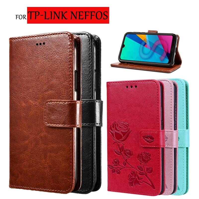 Para tp-link Neffos C9 Max tapa lujosa de Fundas de cuero PU Cartera de silicona para teléfono tp-link Neffos C9s Fundas Capa Fundas bolsa