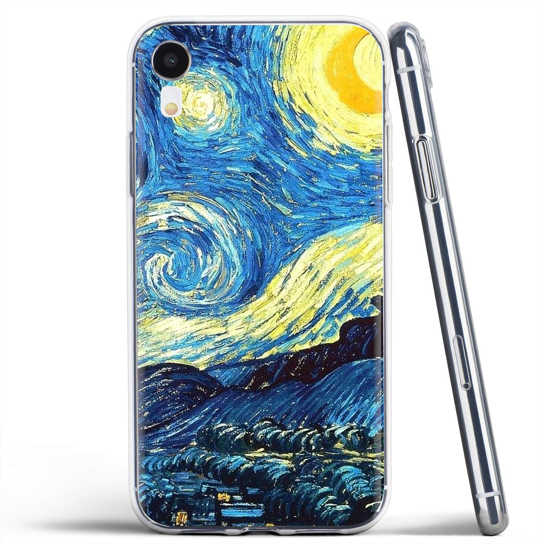 Vincent van gogh céu estrelado para xiao mi a1 a2 a3 5x 6x 8 9t lite se pro mi max x 1 2 3 2 s bonito silicone caso de telefone