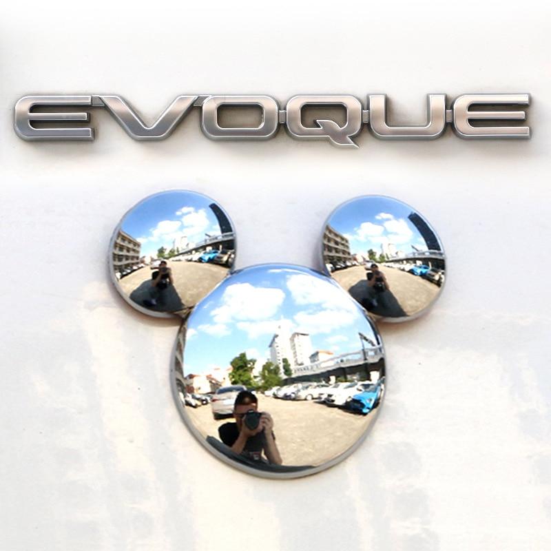 Металлическая Автомобильная персонализированная 3D наклейка с Маусом трехмерный Креативный логотип Микки Мауса декоративная наклейка