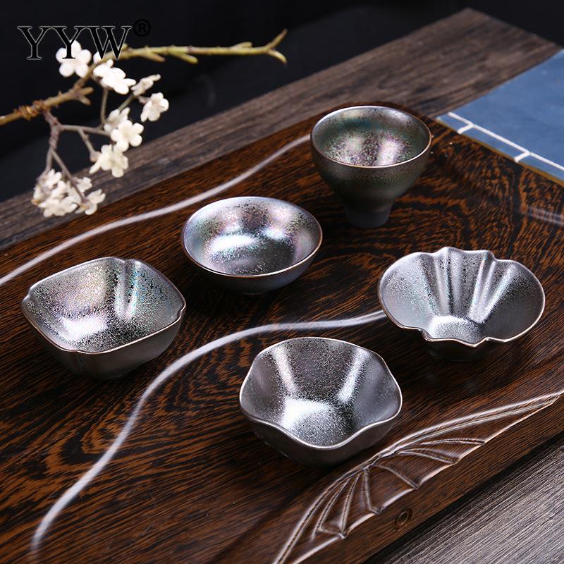1 Uds cerámica creativa Teacups kungfú chino juego de té taza de té de porcelana tazón de té Taza de cerámica taza maestra Drinkware