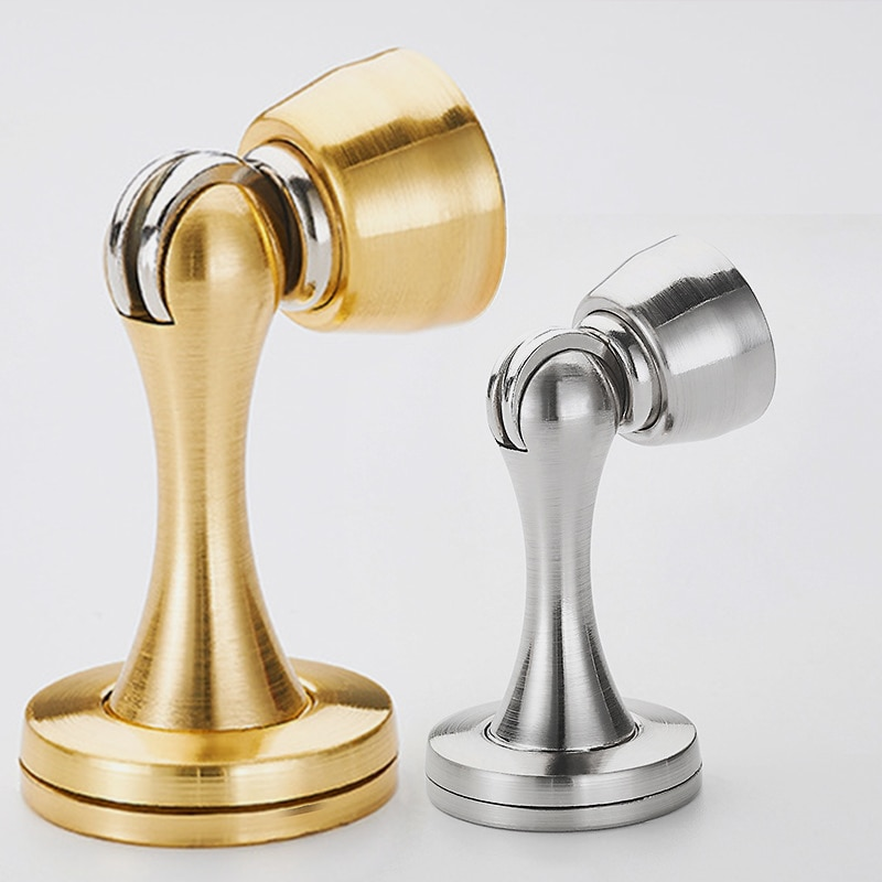 Thickened door suction device anti-collision door stopper strong magnetic anti-collision door stop toilet door top anho stainless steel strong magnetic door stop stopper bathroom bedroom toilet door wall suction fitting screw hardware