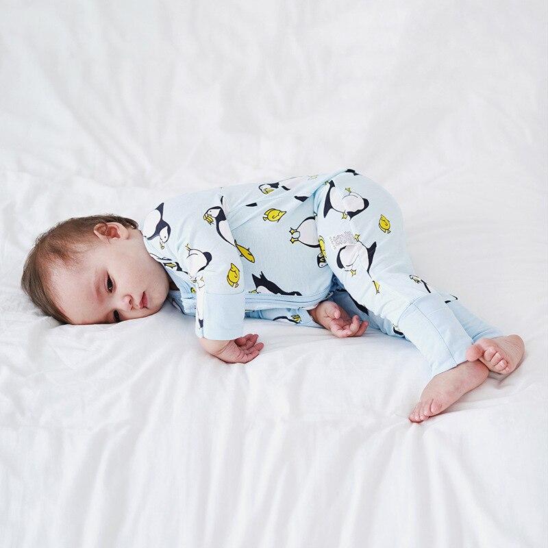 Bunvel bebê recém-nascido macacão crianças roupas dos desenhos animados folha floral impresso macacão bebê menino meninas pijamas 3 m-3 t