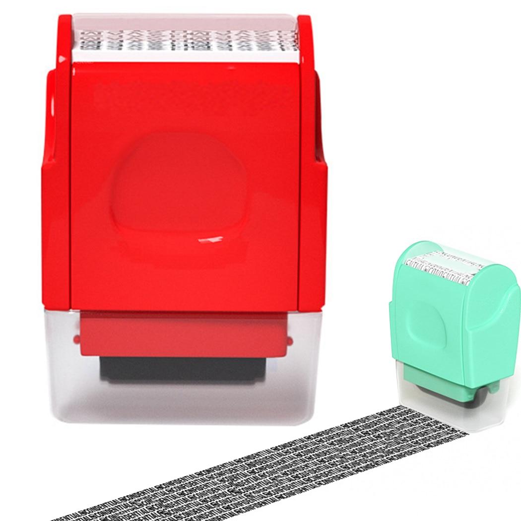Sello de rodillo, protección contra robo de identidad, sello de rodillo, Mini, portátil, confidencial, sello de rodillo, suministros multifunción para estudiantes