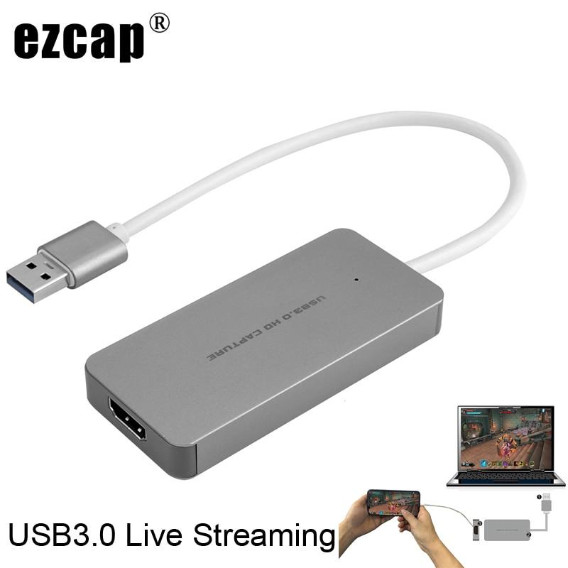 USB 3,0 TypeC Tarjeta de captura de vídeo HDMI a USB3.0 TV BOX videocámara juego transmisión en vivo Dongle de grabación para PS3 PS4 XBox one teléfono