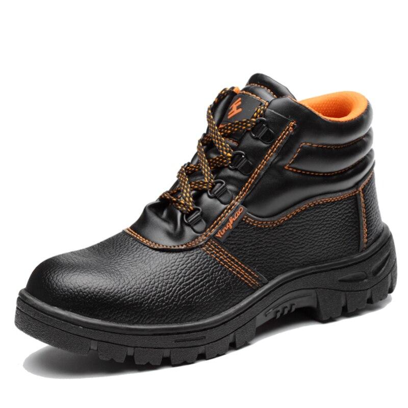 Mhysa 2019 Autumn Winter Combat Men High Top Toe Cap Anti Smashing Work Boots Men Safety Shoes Waterproof non-slip work shoes