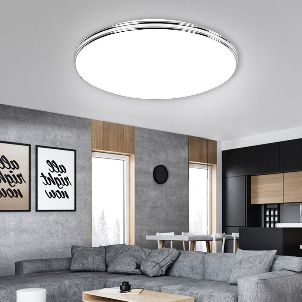 lampada led de painel embutida de teto 12w 18w 24w 36w 72w moderna para iluminacao domestica 220v