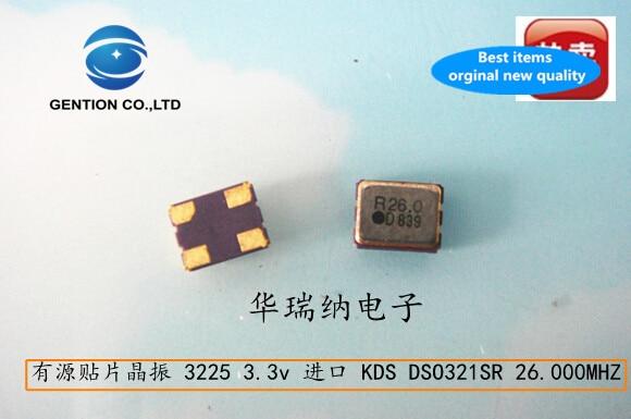 10 pces 100% original novo dso321sr 26m 26mhz 26.000mhz kds importado ativo smd oscilador de cristal 3.3v 3225