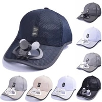 2021 new rechargeable cooling fan baseball caps for men women usb charging sunscreen shade hat summer sport breathable cap hats
