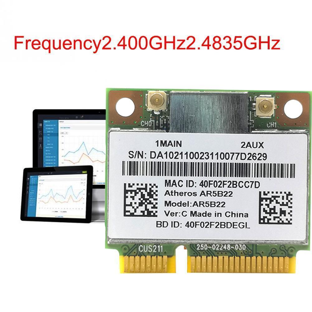 Atheros AzureWave AR9462 AR5B22 WB222 media Mini PCIe tarjeta Wifi inalámbrica WLAN...