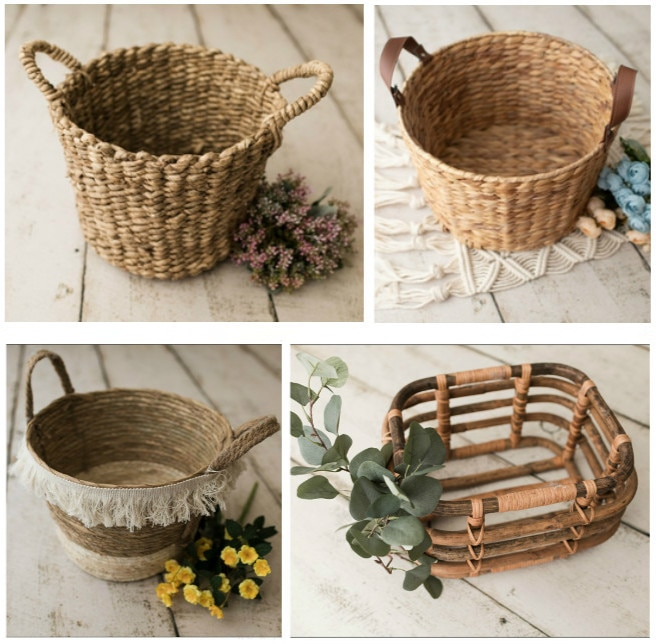 Newborn Photography Props Creative Weaving baskets Theme Shooting Container Infant Photo Shoot Many Choices