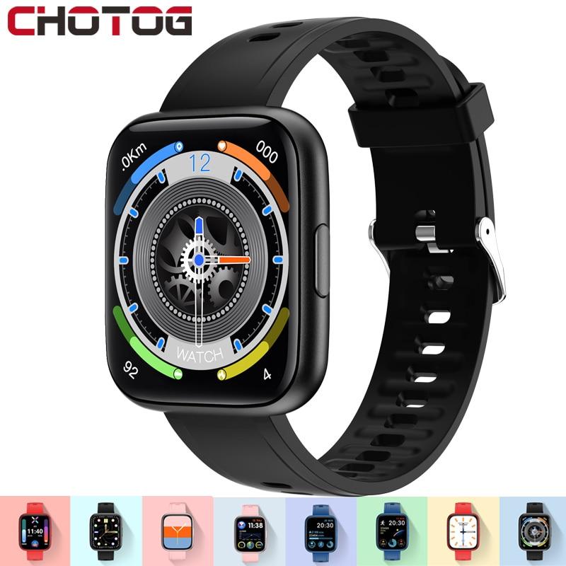 Chycet Smart Horloge Mannen Vrouwen 1.69 Inch Hd Full Touch Smartwatch Muziek Controle Rekenmachine Casual Games Hartslag Fitness Tracker