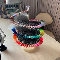120 colors nail tips display stand diy nail art showing shelf gel nail polish color card spiral display stand shelf rotating tip