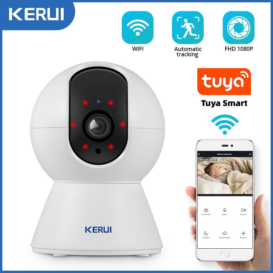 KERUI 1080P Tuya Smart Mini Wifi IP Camera Indoor Wireless Security Home CCTV Surveillance Camera 2MP Auto Tracking Night Vision
