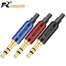 3 шт., разъем 3,5 мм R, 3-контактный позолоченный стерео разъем 3,5 мм, адаптер для наушников «сделай сам» с задней вилкой, для фиксации кабеля, стабильный