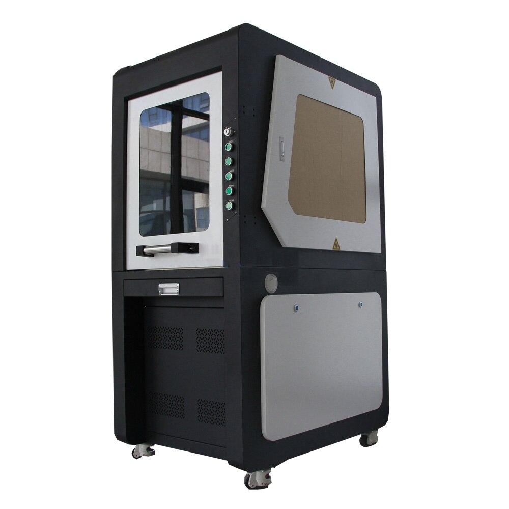 Pequena da Marcação do Laser da Fibra do Aço de Alumínio da Máquina de Corte Automática do Laser do Metal do Negócio com Software de Ezcad Máquina Corte Pequena da de