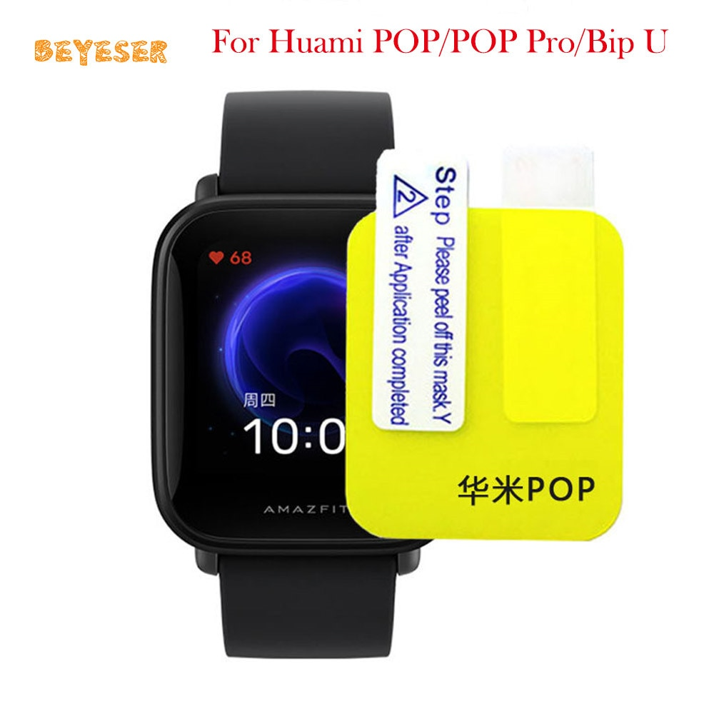 Durable Protective Film Guard For Huami POP/POP Pro/Bip U Soft TPU Full Screen Protector Clear Watch