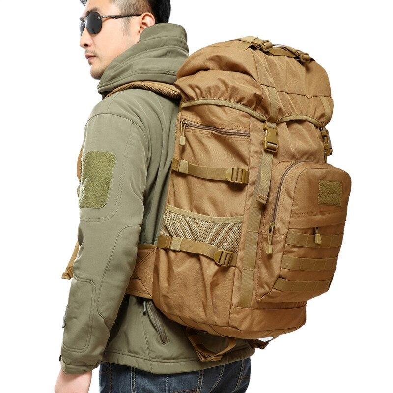 50L gran capacidad hombre militar táctica mochila impermeable Nylon ejército bolsa mochila subir senderismo mochilas de viaje mochila militar