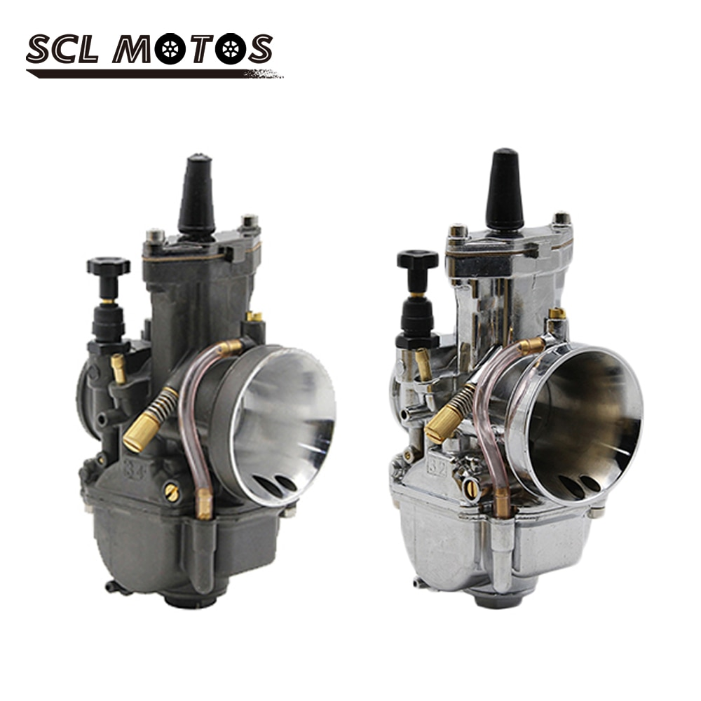 Scl motos 28 30 32 34mm zsdtrp carburador motocicleta com jatos de potência para 4t acidente vascular cerebral motor fora de estrada motocross corrida