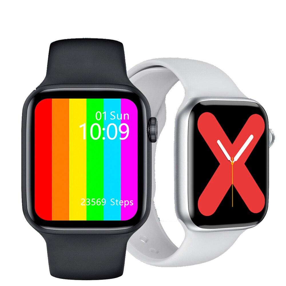 2021 IWO W46 Smart Watch 44mm Wireless Chargomg Body Temperature 1.75 Inch HD IP68 Smartwatch Sports Smartwatch Fitness Tracker