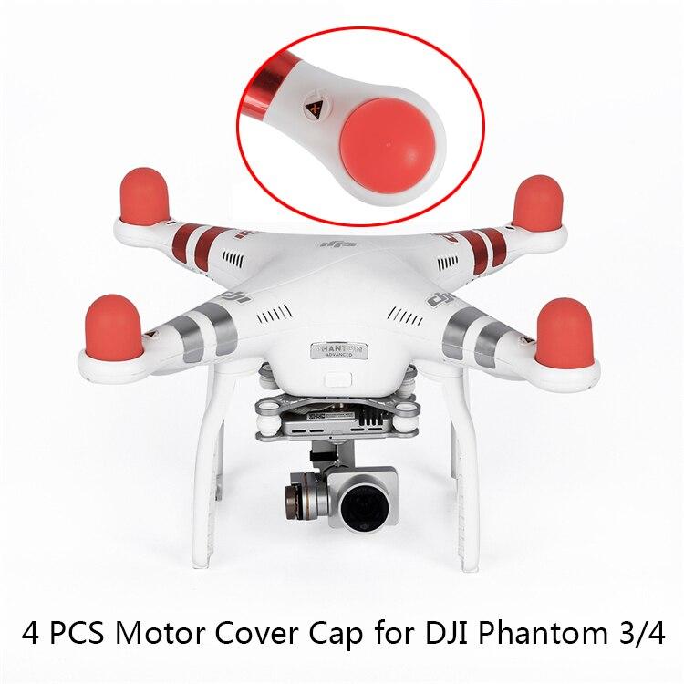 4 шт., Мягкая силиконовая Крышка для двигателя DJI Phantom 2 3 4 Pro Advanced SE