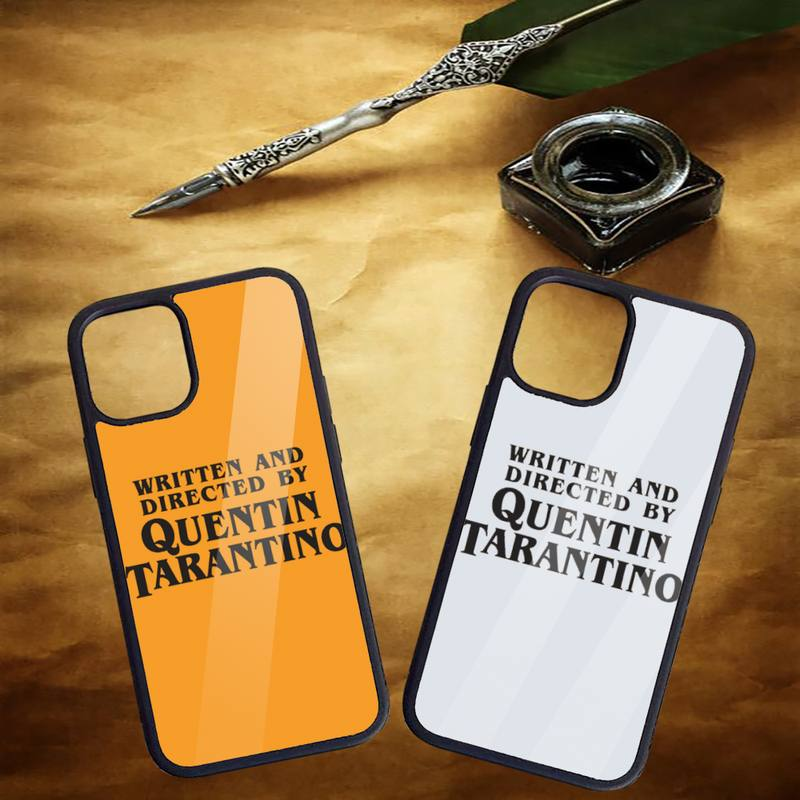 Written and Directed by Quentin Tarantino Phone Cases for iPhone 11 12 pro XS MAX 8 7 6 6S Plus X 5S SE 2020 XR Hard PC