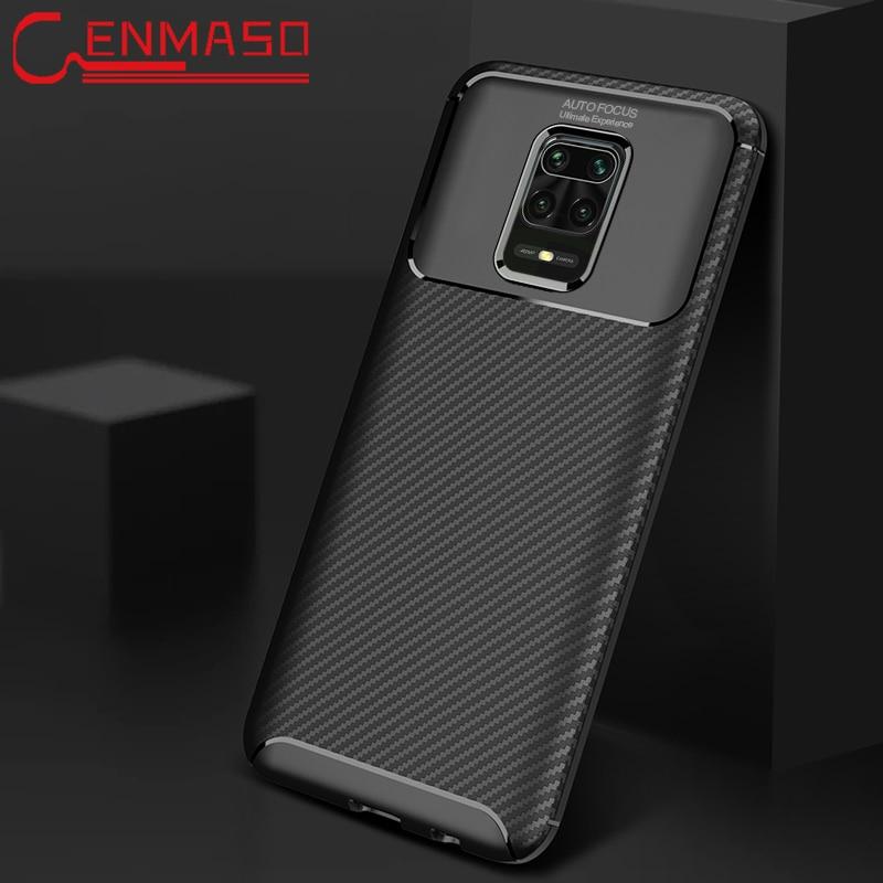 Funda trasera de TPU suave con textura de fibra de carbono para Xiaomi Redmi K30 K20 Note 8 8T CC9 Pro A3 lite K20 Note 10 Max 3 a prueba de golpes