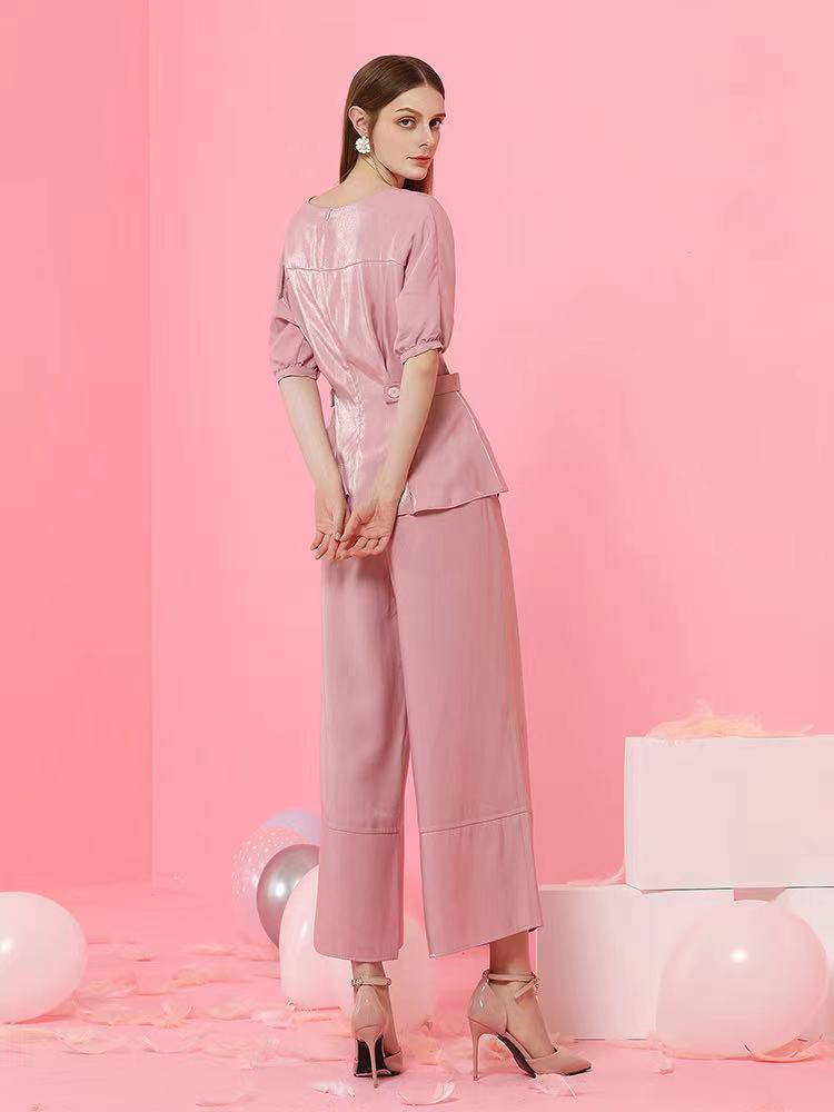 Women's Pink Waist Top,Designer Tops for Ladies enlarge