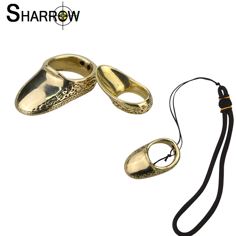 1Pc Archery 16-23mm Copper Thumb Finger Guard Ring Protector Traditional Brass Protector Gear For Crossbow Hunting Bow Accessory