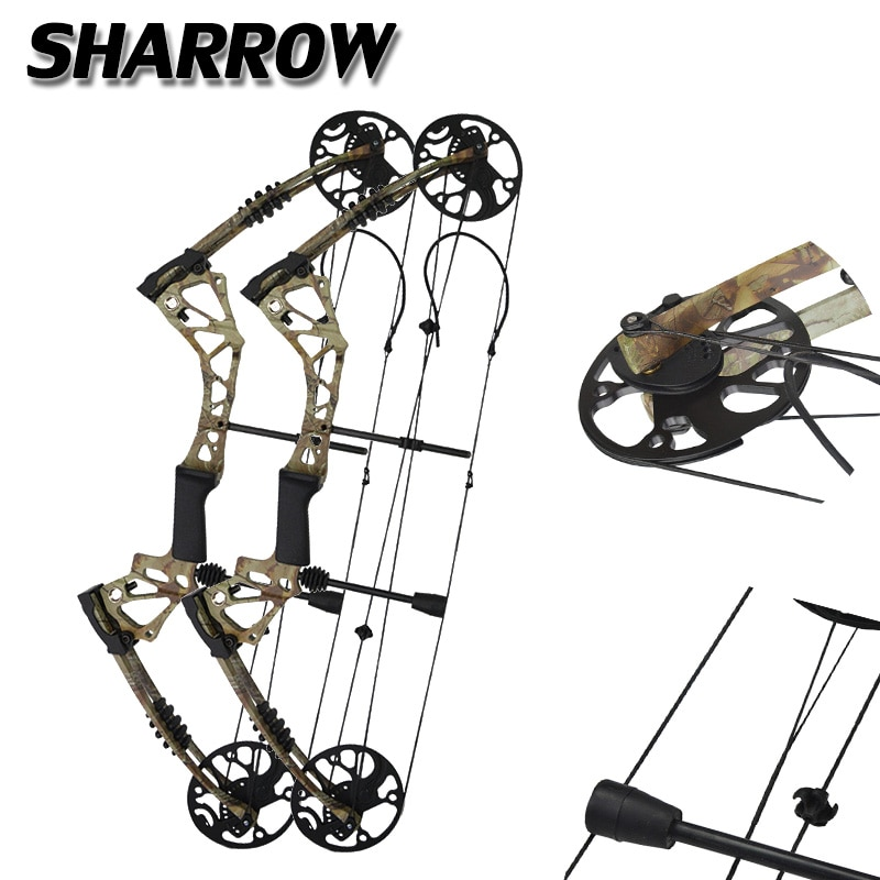1pc Compound  Bow 15-70 lbs Adjustable 19-30 inch Draw Length Hunting Bow Powerful Outdoor Sports Shooting Game Bow And Arrow